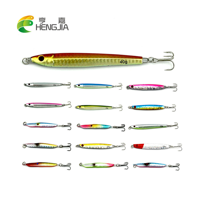 HENGJIA 1PC hard metal lead lures 13g 25g 30g 40g sea sinking jigs hooks vibrations fishing baits wobbler pesca fishing tackles 2016 new jig lures 40g 60g 80g 100g lead head jigs with single hook pesca accessories boat fishing enquipment page 4