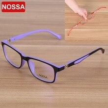 NOSSA элегантные квадратные детские оптические очки рамы дети очки мальчики девочки оправа с линзами при миопии прозрачные линзы
