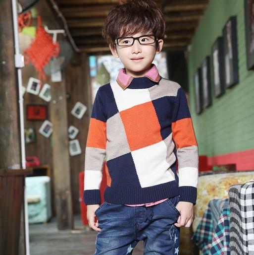 El envío Libre 2013 Nueva Llegada Del Otoño Niños del Suéter Masculino Suéter Del Bebé Del Enrejado Weaving Sweater LQ410