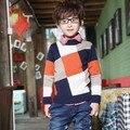 O Envio gratuito de 2013 Novos Chegada do Outono das Crianças Camisola Masculina Camisola Bebê Menino Malha Tecelagem Sweater LQ410
