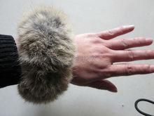 Free Shipping/ Real Rabbit Fur ponytail holder hair band scrunchie  natural brown