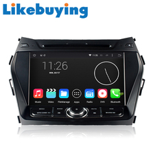 Likebuying Car 2 Din Android QUAD CORE 1024*600 DVD GPS Radio Stereo Navigator for Hyundai IX45 2013 Santafe 2013 Canbus Include
