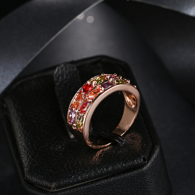 Be8 брендовые свадебные кольца уникального дизайна с разноцветным