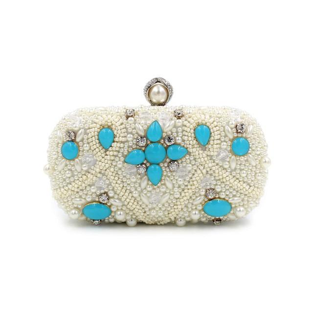 2016 Europea and America gems Heavy beaded evening bag high-grade diamond evening clutch bag banquet dinner party handbag clutch