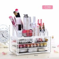 Nosii Acrylic Multi Drawer Grid Jewelry Cosmetic Makeup Lipstick Manage Case Display Organizer