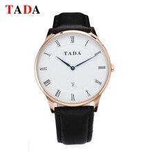Top Luxury Brand TADA 3ATM Waterproof Men/women's Elegant relogio masculino genuine leather band hot sales Ultra thin watches