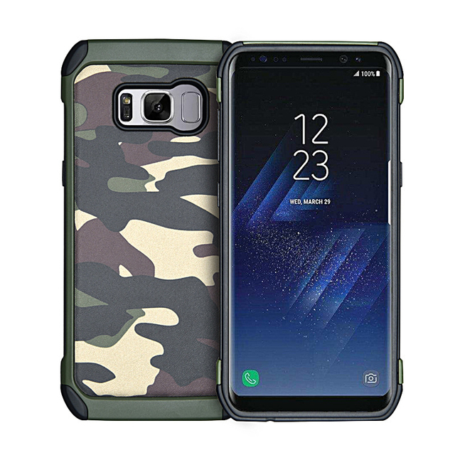 new arrival 55169 0e31d US $3.76 5% OFF|Army Camo Camouflage Phone Case For Samsung Galaxy S9 S8  Plus S7 S6 Edge Note 8 Armor Cases For Samsung J2 J5 J7 Prime A720 Case-in  ...