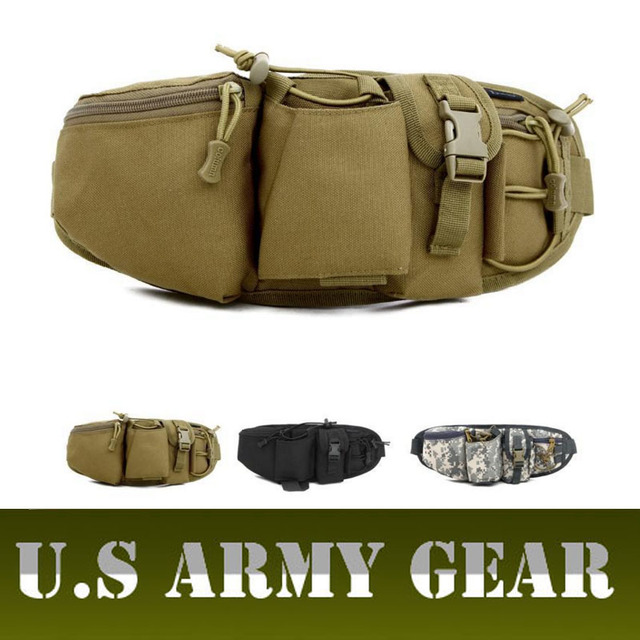 D5Column Military Tactics Men Waist Bag Pochete Molle Pochete Belt Small Shoulder Kettle Fanny Pack Male Travel Army Chest Bag