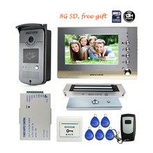 """MILEVIEW 7 """"farbe Bildschirm Aufnahme Video Intercom-türsprechanlage + Rfid Klingel-kamera + magnetverschluss Kostenloser Versand"""