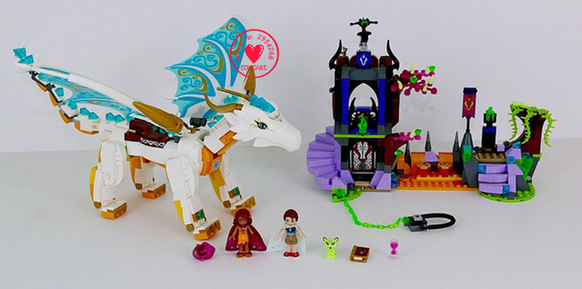 New Elves fairy Long After Rescue dragon girls fit legoings elves fairy friends building blocks bricks diy Toys 41179 gift kid