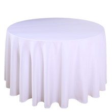 1PC Polyester Wedding Tablecloth White For Home Dining Party Event Decoration Table Linen Table Slipcover Cloths(China)