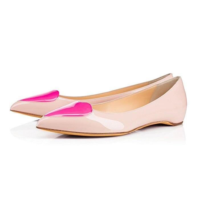 Nancyjayjii Women Geniune Leather Pointed Toe lovely Fashion Heart Shape Handmade Simple Styles Flats Woman Shoes