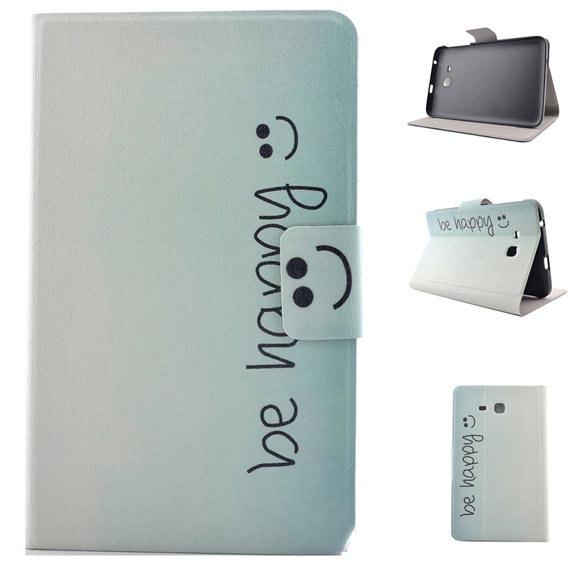 Tablet Painted PU Leather Stand Case For Samsung Galaxy Tab 3 Lite T110 T111 T113 T116 7inch Covers Accessories Protector Sheath
