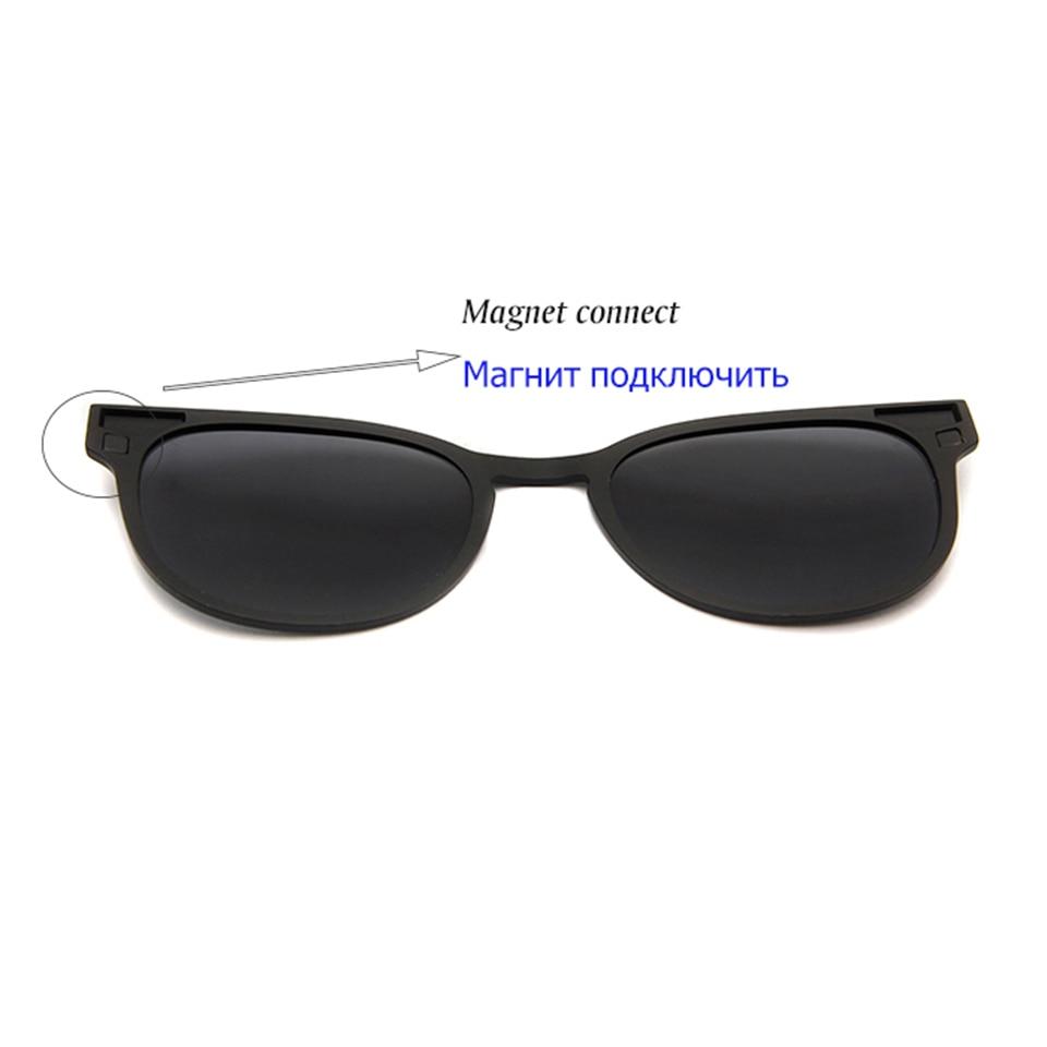 ESNBIE Ultem Polarisierte Clip On Sonnenbrille Magnetrahmen Brille - Bekleidungszubehör - Foto 4