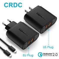 CRDC Szybkie Ładowanie 2.0 Ładowarka Uniwersalna 36 W Podwójny Port USB Ładowarka Ścienna USB Adapter Do iphone 6 7 X Power Banku Etc Telefonu komórkowego