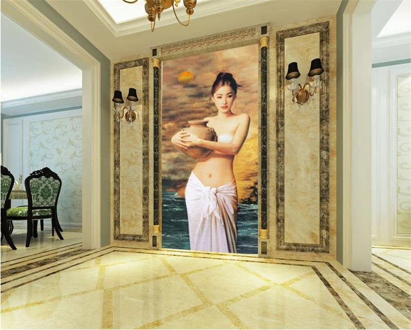 3D photo wallpaper custom room mural non-woven wall sticker Bathing Girl porch Oil Painting TV background wallpaper for walls 3D motorcycle new adjustable cnc billet short folding brake clutch levers for triumph tiger explorer 1200 2012 2015 2013 2014 12 15