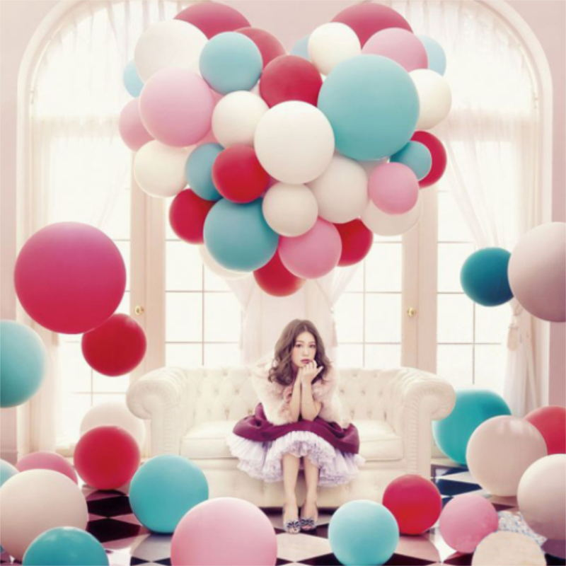 36-inch large round latex balloon 12 color wedding decoration balloon baby birthday party decorated huge balloons.