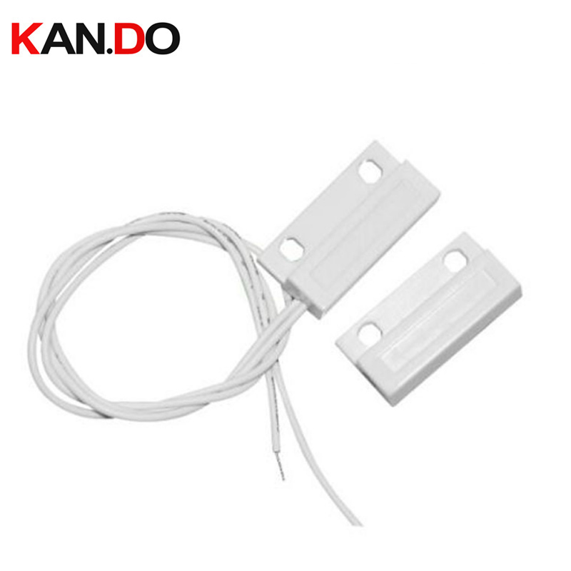 Wired Plastic Magnetic Sensor For Door Open Or Window Normal Close For Your Security Alarm System Wired