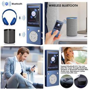 Image 5 - مشغل موسيقى MP3 Bluetooth4.2 مكبر صوت مدمج مع شاشة TFT 2.4 بوصة مشغل صوت بدون فقدان ، يدعم بطاقة SD حتى 128 جيجا بايت