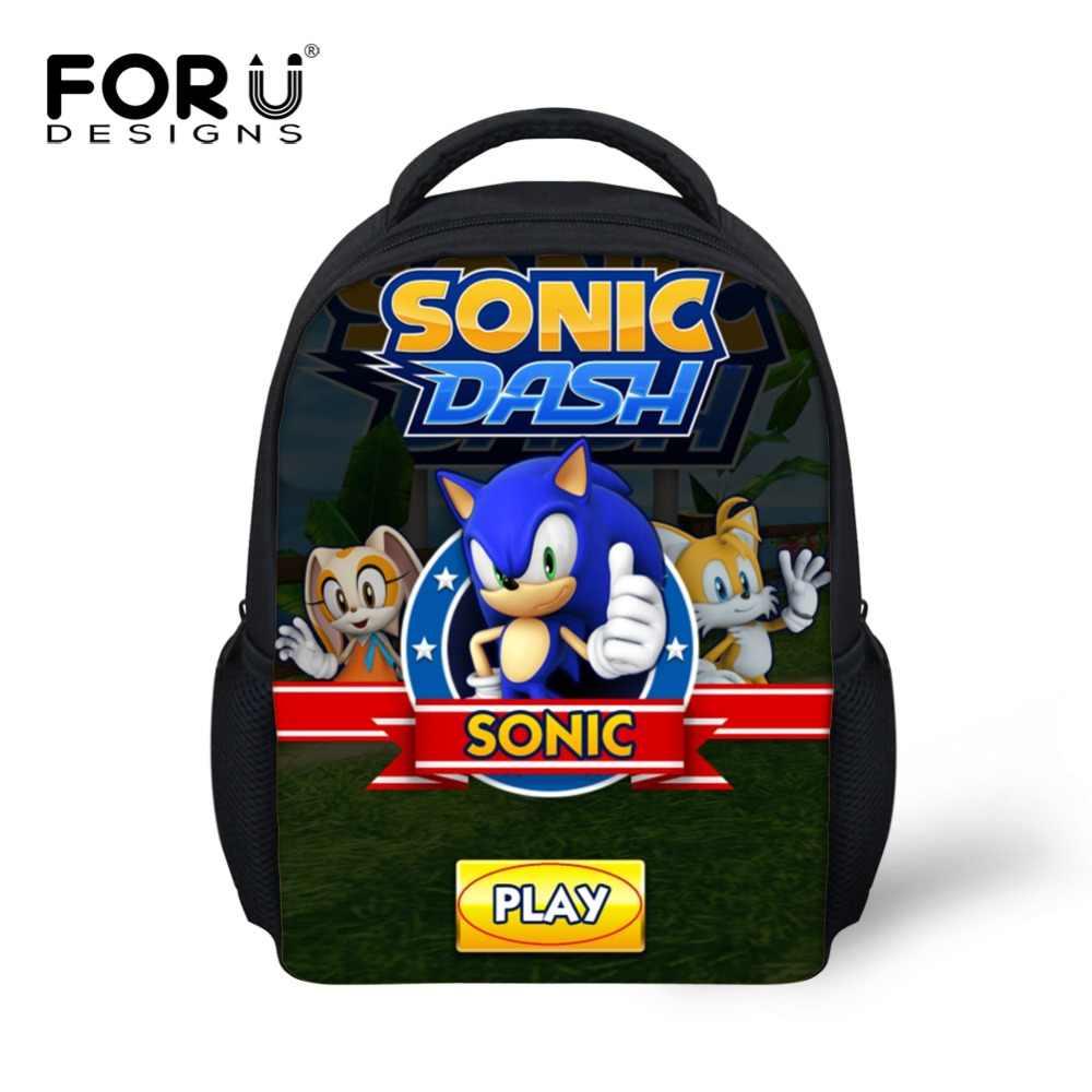 c8aee7f4668e FORUDESIGNS Kindergarten Kids Schoolbags Backpack Sonic the Hedgehog Prints  Kids Cute School Bags Baby Boy Children