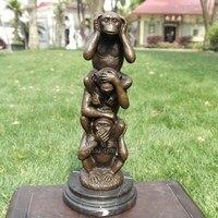 Copper sculpture monkey crafts animal sculpture art decoration home decoration business Bronze Arts decoration gift craft Home