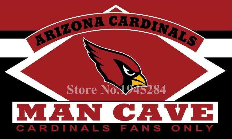 NFL Arizona Cardinals Man Cave Fans Only Flag Banner Size 3x5FT 90x150CM New Polyester, free shipping