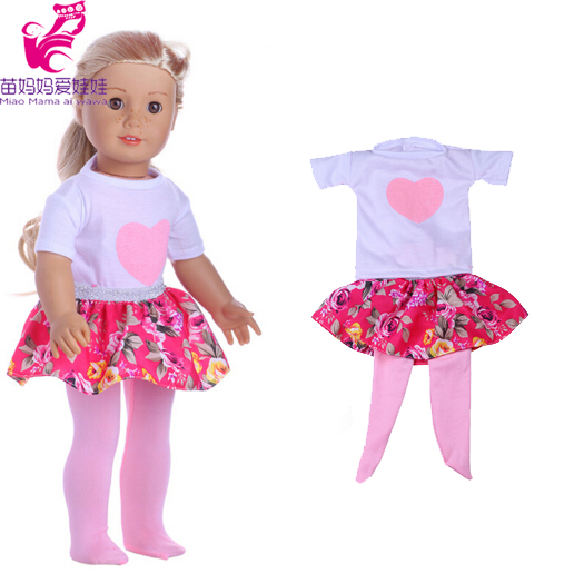 18 inch Doll Clothes for 18 inch American Girl one pieces dress +legging for 45 CM reborn baby doll american girl doll clothes halloween witch dress cosplay costume for 16 18 inches doll alexander dress doll accessories x 68