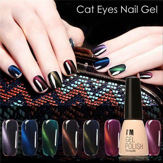2017 1pcs Beauty Gel Nail Cat S Eye Polish Matte Manicure Soak Off Color