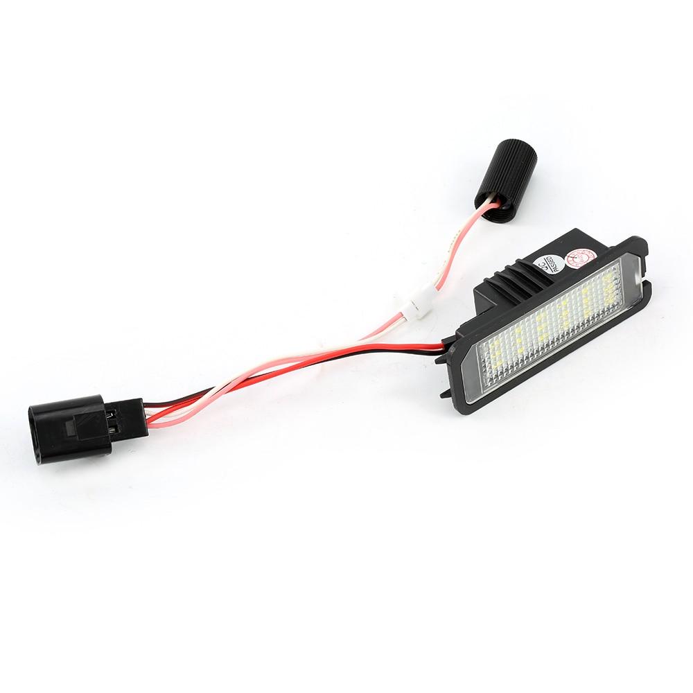2Pcs 12V LED Number License Plate Light Lamps for VW MK5 GTI MK6 Golf 4 5 Glof 6 Car License Plate Lights Exterior Accessories Pakistan