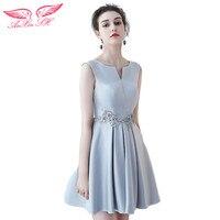 AnXin SH Grey Beading Evening Dress Sister Princess Flower Evening Dresses Grey Flower Evening Dress