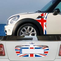 3pcs/set Car fender Side Scuttles Trim Decor Decal Sticker License Plate Sticker For Mini Cooper R55 R56 Car Styling Accessories