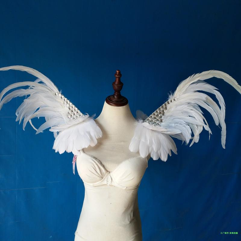 adult children Model T-stage catwalk photo photography jewelry custom  exaggerated feather stage performance shoulder ornaments