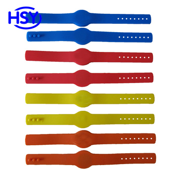 Adjustable RFID Silicone Wristband 125Khz Proximity EM ID 13.56Mhz HF IC MF 1K Access control watch Tag cards image