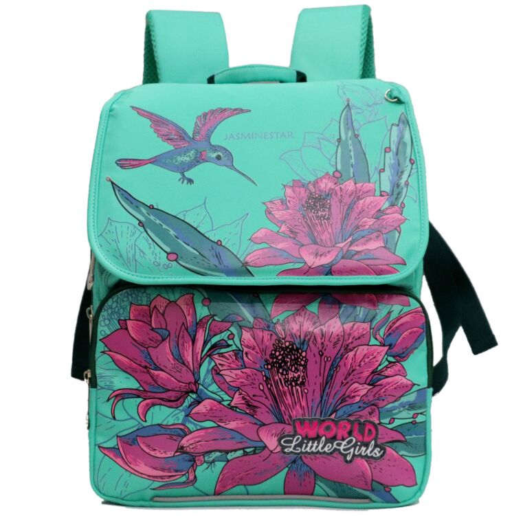 Russia Style Girls School Bags Cartoon Birds Floral Pattern Backpack Boys Racing Cars Waterproof Orthopedic School Backpacks