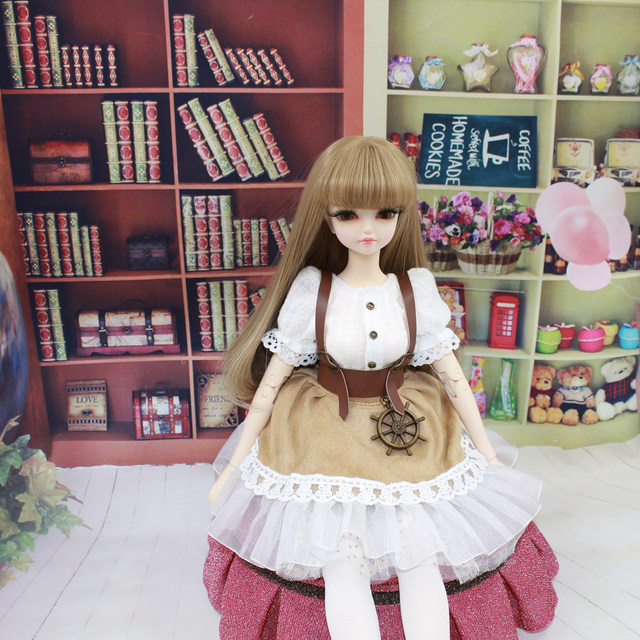 Fortune Days for 1/4 BJD Doll 45cm Highly brown fashion girl in four piece dress Set High Quality Blyth reborn girls Toy Gifts 3
