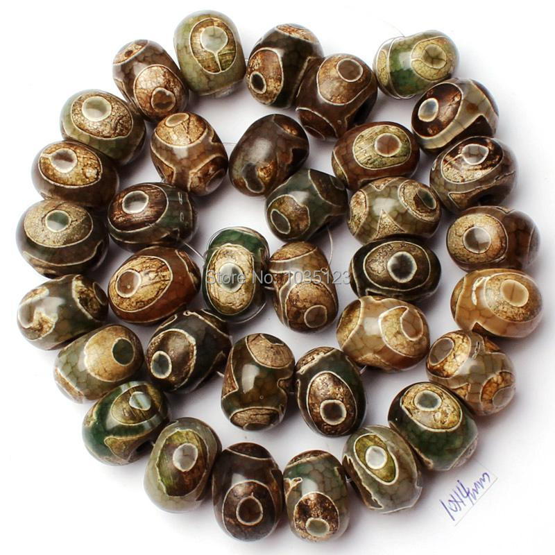 Free Shipping 10x14mm Mixed Dzi Agates Onyx Rondelle Shape Loose Beads Strand 15 DIY Creative Jewellery Making w2238