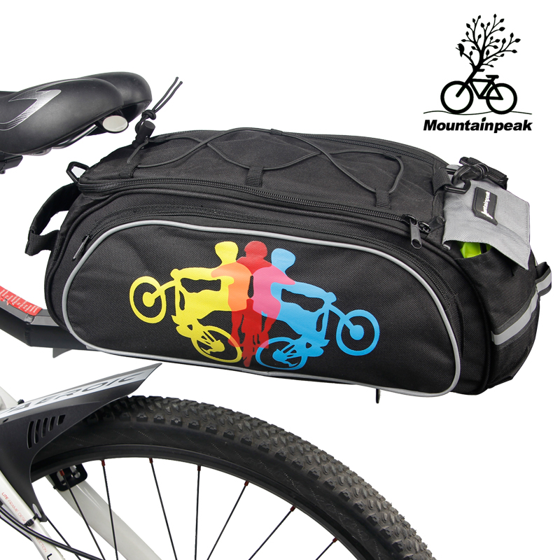 Bicycle Saddle Bag Large Capacity Rainproof Riding Cycling Storage Bag Bike Rack Seat Rear Bag Accessories MTB Bike Carries Bags roswheel bicycle bag men women bike rear seat saddle bag crossbody bag for cycling accessories outdoor sport riding backpack