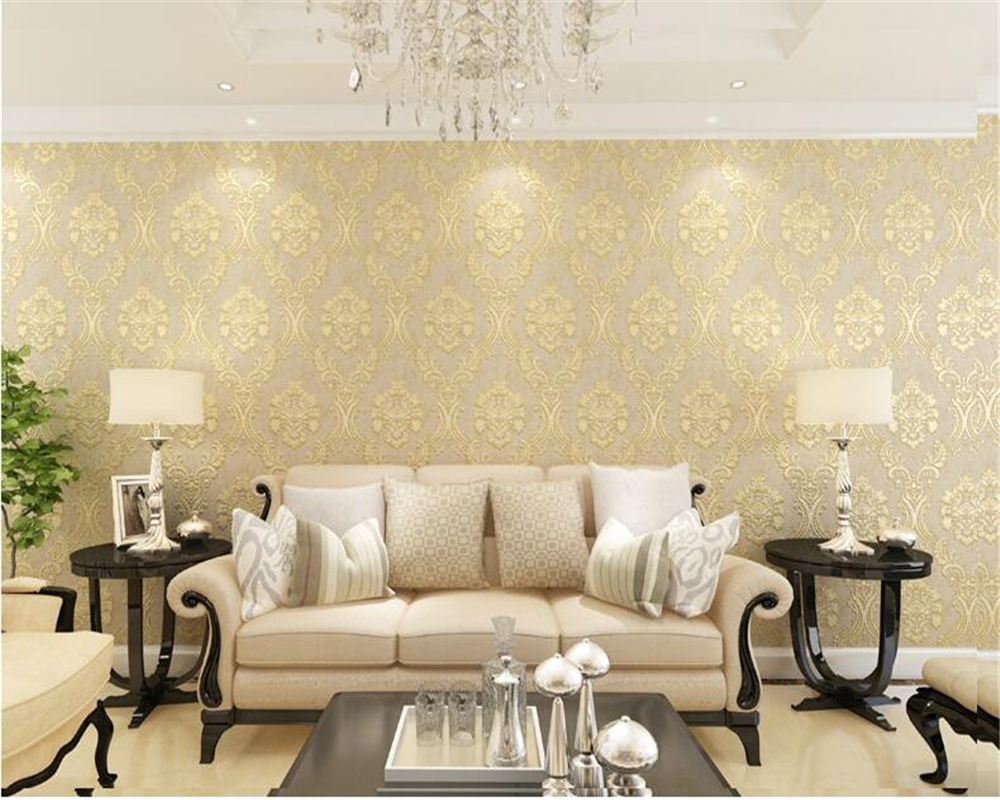 beibehang Nonwoven cloth AB fine-grained European-style wall paper three-dimensional living room bedroom full of 3d wallpapper beibehang european wall paper tv backdrop nonwoven fabric 3d wallpaper bedroom three dimensional relief big flower type tapety