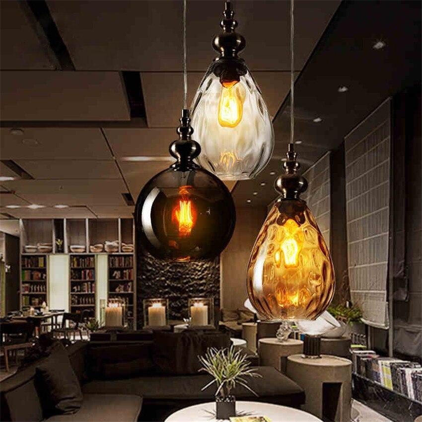 Vintage Glazen Hanglamp resraurant cafe bar Retro industriële ...