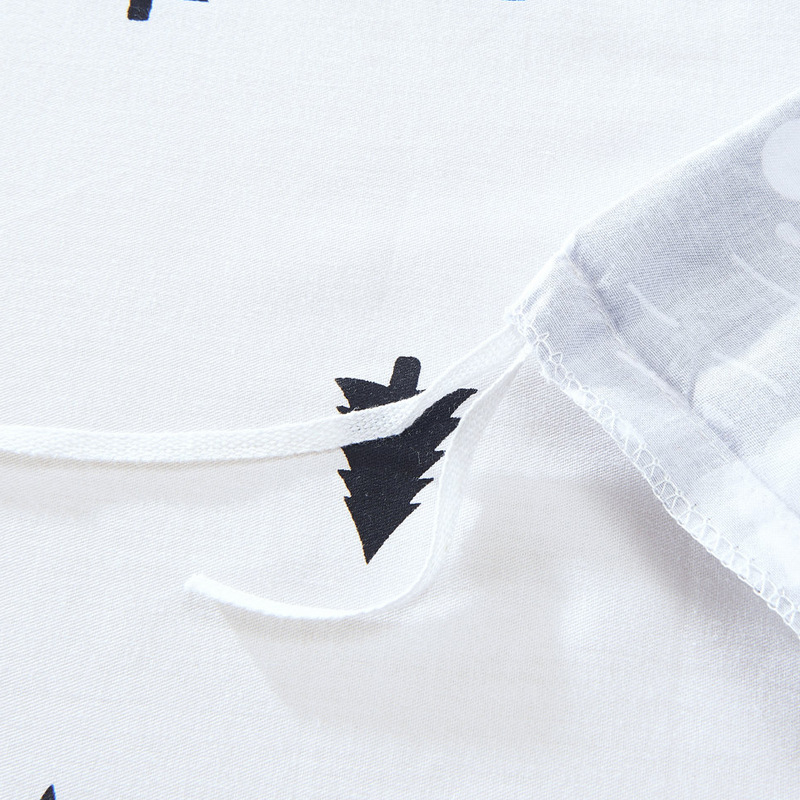 Fashion Tree Cloud Printed 100%Cotton Bedding Set Edredon 4pcs Bed Linen Duvet Cover Set Twin Full Queen Size Roupa De Cama