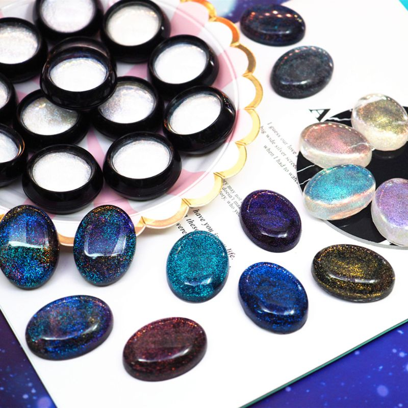 Resin Pigment Suspended AB Effect Powder Mica Pearl Pigment Resin Jewelry Making