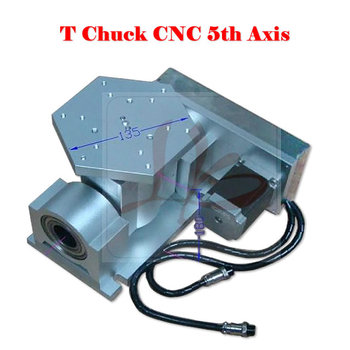 CNC 5 Axis A Type Rotary Axis T Chuck Type for CNC Router Milling Machine 2