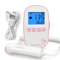 ELERA Fetal Doppler Portable Ultrasound Pregnant Baby Heart Rate Monitor Heartbeat Detector LCD Pocket Vascular Doppler