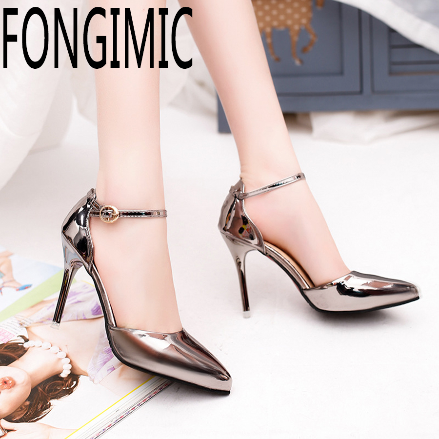 Fashion Hot sale Solid fashion women summer shoes thinheels shallow mouth pointed  toe shoes  shoes work wear comfortable Pumps e hot sale wholesale 2015 new women fashion leopard flat shallow mouth shoes lady round toe shoes