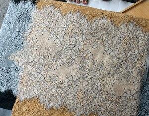 Ткань нейлоновая кружевная для ресниц, 6 м/лот, классический дизайн, 35 см