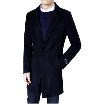 Autumn and Winter Long mens Jackets Large Size S-5XL Woolen Fabric Trench Men Business Casual Men Coats