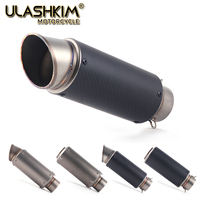 Universal GP Motorcycle Carbon Fiber laser SC stickers Exhaust Escape Muffler Pipe Inlet 51 61mm 61 51mm