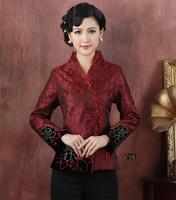 Traditional Chinese Clothing silk satin Jacket Apparel & Accessories Women's Outerwear Tops Tang Suit M-3XL