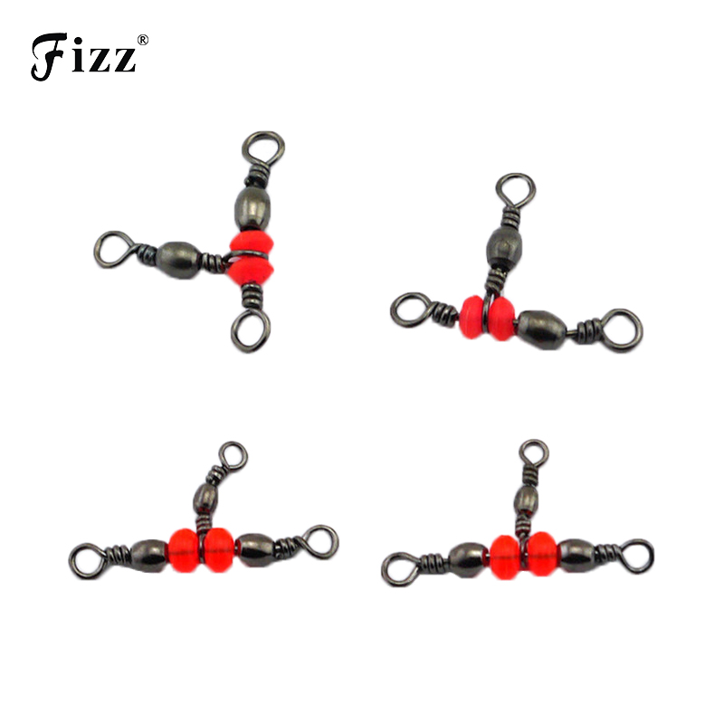 20pcs bag High Strength Stainless Steel Fishing Connector 3 Way Ball Bearing Fishing Connector Fishing Accessories 6 9 12 16 in Fishhooks from Sports Entertainment
