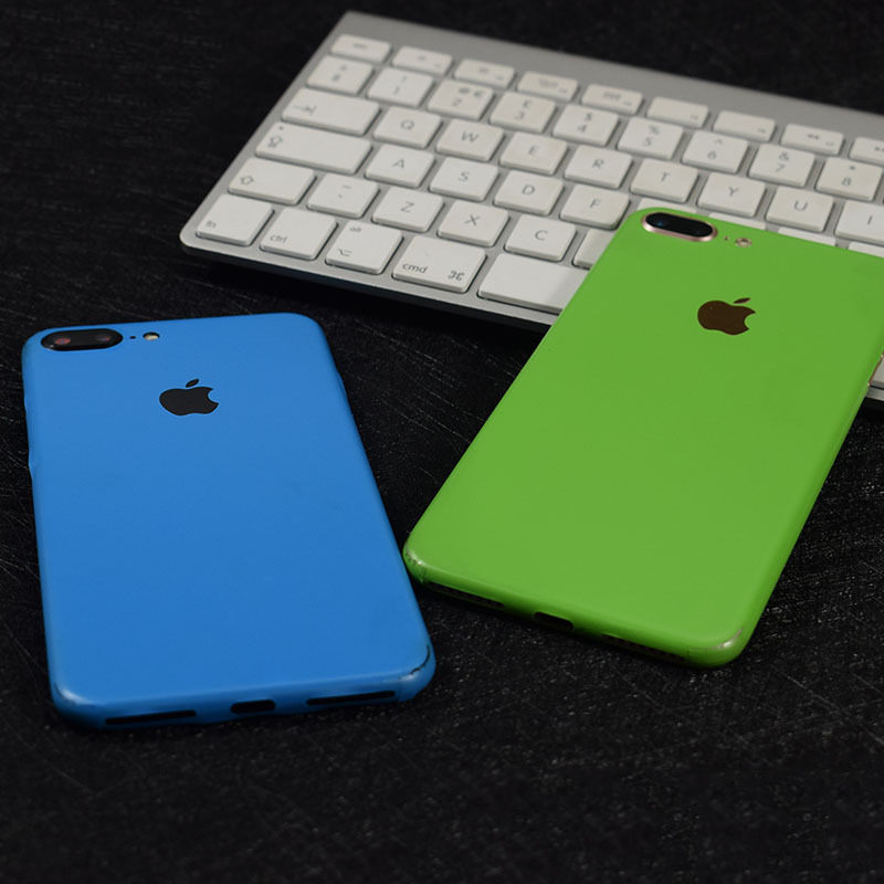 5198ce307ed76 Ice Film Decorative Back For Apple iPhone 7 Plus Mobile Phone Protector iPhone7  Back Film Protective